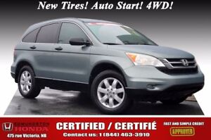 2011 Honda CR-V LX - 4WD Certified! New Tires! Auto Start! 4WD!
