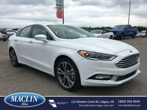 2017 Ford Fusion Titanium, Nav, Backup Cam, Hot/ Cold Leather