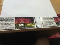 Reading weekend festival tickets x2