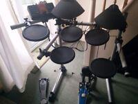 Yamaha DTXPlorer with Bass Pedal + Sticks