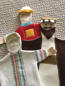 Set of 6 hand puppets