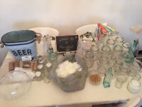 Wedding Job Lot 70 Piece Vases Jars Table Decor Props and more worth £200