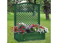 Brand new in box Rectangular planter with trellis