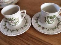 Espresso in style! Villeroy and Bosh vintage style - coffee for two!