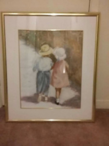 Boy and Girl Framed Picture