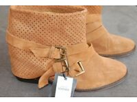 New Zara leather ankle boots size Uk 6 Eur 39
