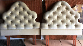 Pair of single bed headboards