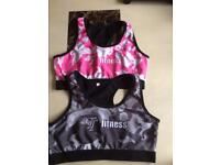 Ladies fitness sports bra large size