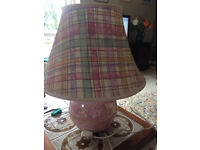 LARGE TABLE LAMP - as new. Matching curtains available if required.