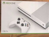 xbox one s 1tb console & 7 games & bluray ,boxed ,inc 4 months warranty ! price stands , no offers !
