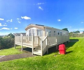 static caravan for sale with decking sited on sea view pitch , payment options availble
