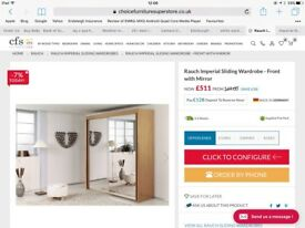 Rauch white mirror sliding wardrobe