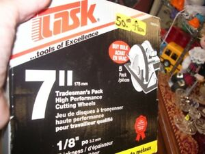 """NEW  5  PACK OF 7 """" CUTTING WHEELS  TASK FOR METAL"""