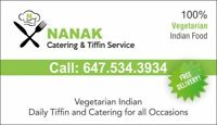 NANAK TIFFIN AND CATERING SERVICE 100% HEALTHY VEGETARIAN FOOD