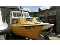 15ft bonwitco with 400c unsinkable boat comes with 40hp suzuki oil injection power trim and tilt