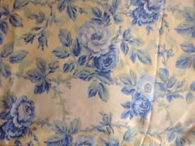 Pair of floral Laura Ashley CUTAINS - never used - 137cm drop X 160cm wide.