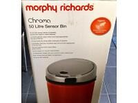 Red Morphy Richards 50 L Sensor Bin