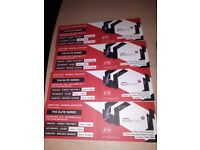 Tickets for a selection of events