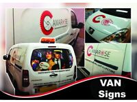 Window Tinting, Van Signs, Banners and T-shirt printing