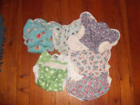 Cloth nappy bundle. MotherEase onesize x30, terry squares, wraps, fleece liners, boosters