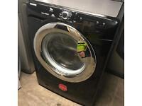 Hoover washing machine in black Chrome door 8KG