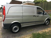 mercedes benz silver panel van