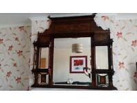 Antique mantel mirror