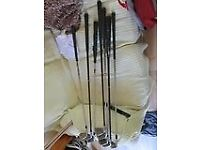 Assorted Golf clubs for sale £35 .