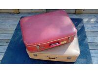 Suitcases vintage retro.