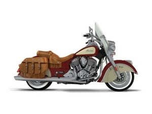 2017 Indian Chief Vintage Indian Motorcycle Red Over Ivory Cream