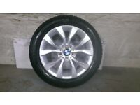 ALLOYS X 4 OF 17 INCH GENUINE BMW X1 4X4 FULLY REFURBISHED AND POWDERCOATED INA STUNNING DUTCHSILVER