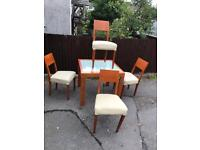 TABLE AND 4 CHAIRS NEEDS TLC ** FREE DELIVERY AVAILABLE TODAY **