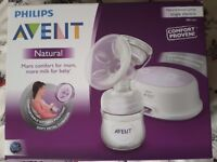 Philips Avent Natural Breast Pump Single Electric /used/