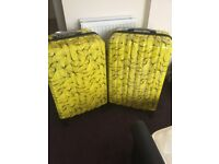 2 x New Large 4 wheel hard shell suitcases