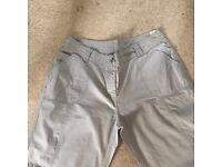 Marks & Spencer Beige Cargo Trousers - Size 16 Short ** VGC **