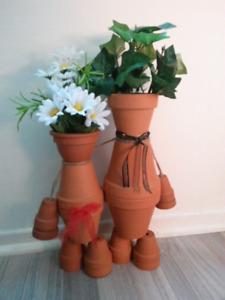 Hand crafted terra cotta couple