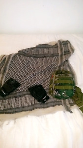 Mini Kit Paintball/Airsoft , Gants , Shemagh , Sac militaire !