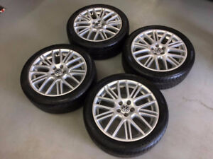 "17"" 5x100 Volkswagen Alloy Wheels and Tires"