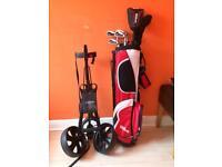 Junior golf club set and trolley