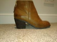 Ladies office brown ankle boots