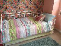 Day bed with pull out bed and mattresses