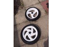 Gilera runner piaggio typhoon powder coated wheels good tyres mint