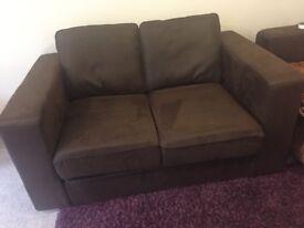 Nabru brown 2 seater sofa