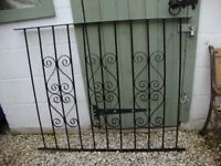 """Wrought Iron Fence Section. 45"""" x 36"""" (approx)."""