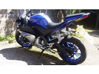 2015 YAMAHA YZF R125 BLUE ABS 1 OWNER FROM NEW 1 YEAR MOT