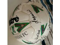 Hibernian FC signed football, late 90s/early 2000s