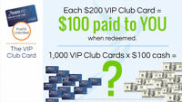 GIVE Away Free $200 Savings Cards - Make $100 For Each One!