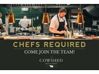 CHEFS & KITCHEN STAFF OF ALL LEVELS WANTED – THE COWSHED RESTAURANT