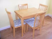 CAN DELIVER - SPACE SAVER MODERN DINING TABLE + 4 CHAIRS IN VERY GOOD CONDITION