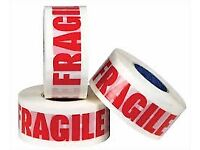 48MM X 150MTR ROLLS OF FRAGILE ETAPE BRAND NEW BOXED fragile tape